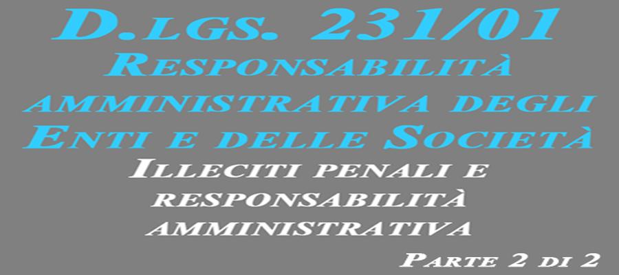 Dlgs 231_01 parte 2 di 2